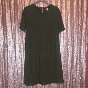 Divided Size 14 Olive Lace Dress